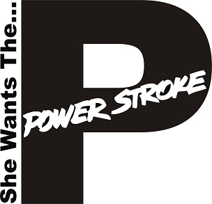 Ford Vinyl Decal Sticker POWERSTROKE DIESEL HQ 5x7 ANY COLOR!