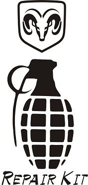 Funny Grenade Vinyl Decal Sticker DODGE HQ 5x7 ANY COLOR!
